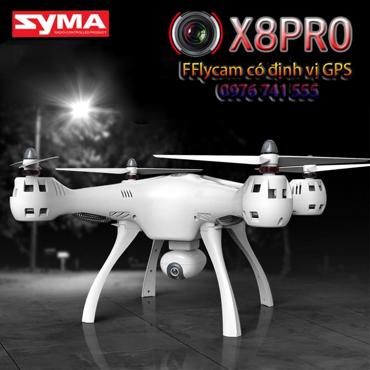 Máy bay chụp ảnh Flycam Syma X8 Pro- Có GPS, Tự động trở về, camera 720P HD truyền trực tiếp (Bảo hành 1 đổi 1)