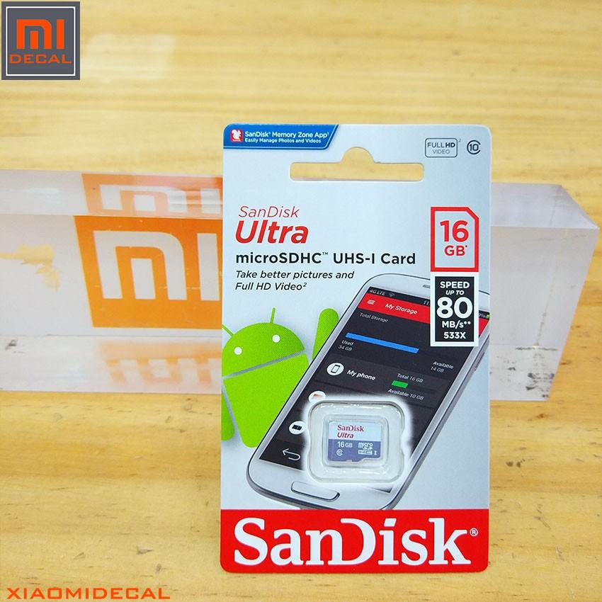 Thẻ nhớ 16Gb Micro SDHC Ultra 533X Class 10 80MB/s SanDisk - Phiên bản 2018 - 3441716 , 1055815115 , 322_1055815115 , 119000 , The-nho-16Gb-Micro-SDHC-Ultra-533X-Class-10-80MB-s-SanDisk-Phien-ban-2018-322_1055815115 , shopee.vn , Thẻ nhớ 16Gb Micro SDHC Ultra 533X Class 10 80MB/s SanDisk - Phiên bản 2018