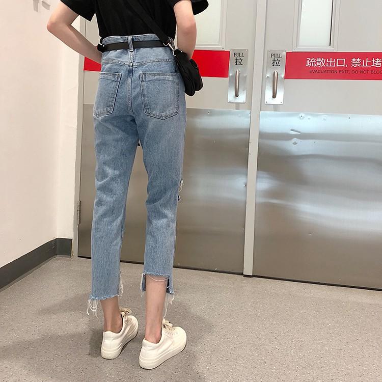 quần jeans rách gấu QJ019 order