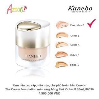 Kem nền dưỡng da cao cấp, siêu mịn, che phủ hoàn hảo Kanebo Cream Foundation màu sáng hồng Pink Ocher B thumbnail