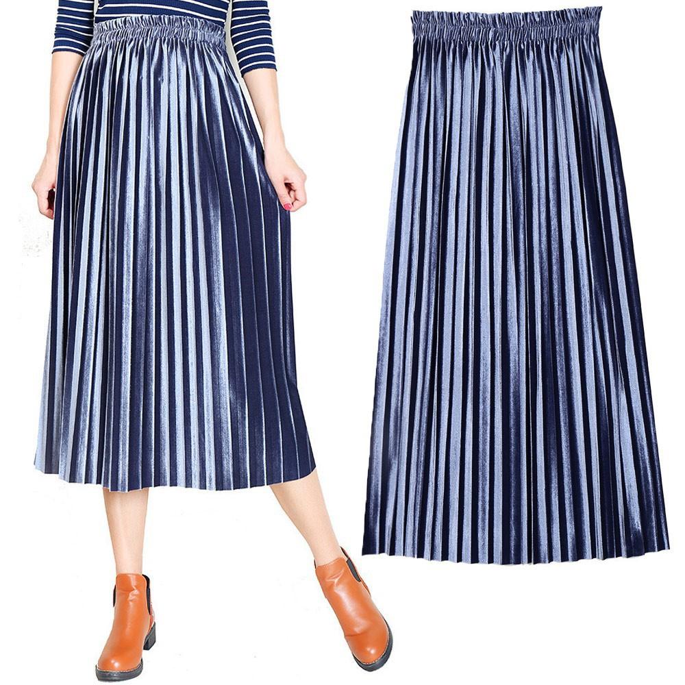 1279287619 - Chân Váy Dài Lưng Cao Phong Cách Vintage Cho Nữ