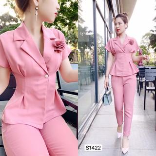 Set vest hồng kiểu dáng công sở sang trọng chất maggo nhật cao cấp S1422_ Adelashop [Kèm ảnh thật] thumbnail