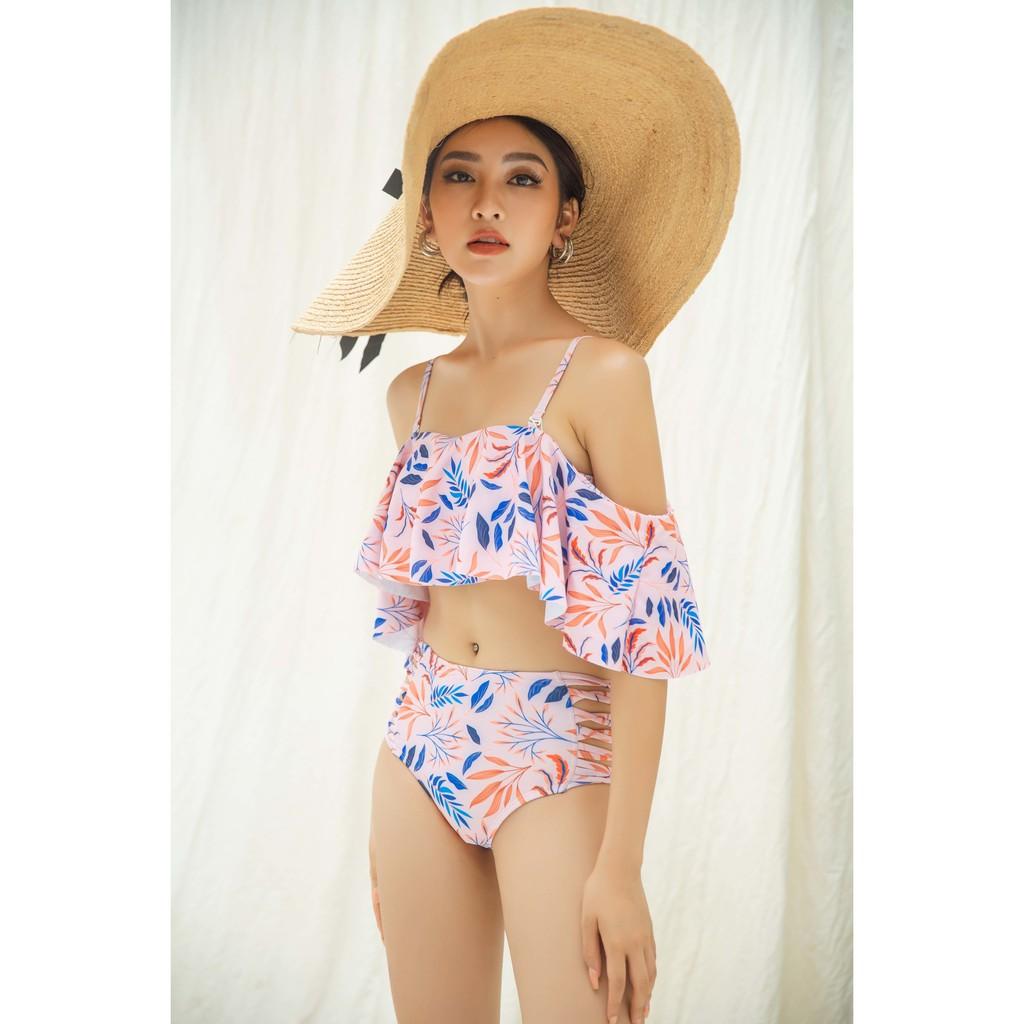 IVY moda Bộ đồ bơi hai mảnh họa tiết hồng MS 34X1164