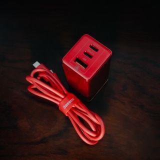 [Hàng có sẵn] Củ Sạc Baseus Gan 65W Đỏ Phiên bản giới hạn + Dây usb type C to C 100W chip e- mark