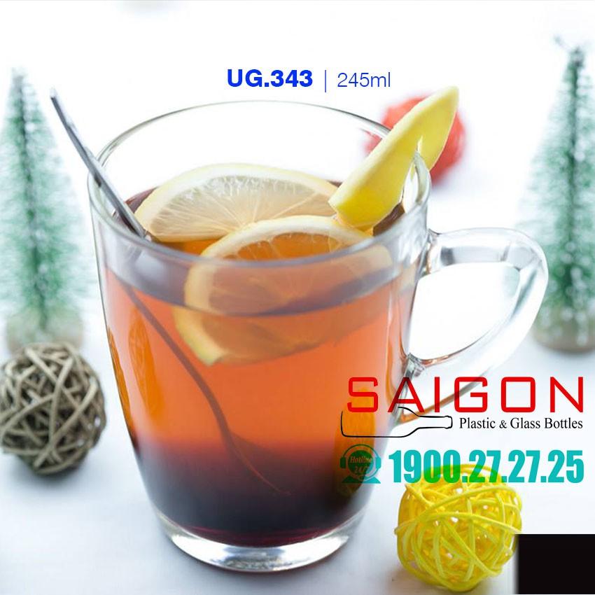 Bộ Tách Thủy Tinh Uống Trà 245ml | UNI.343 , Nhập khẩu Thái Lan