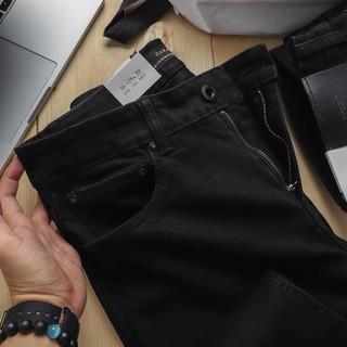 Quần jean nam đen trơn rách cao cấp hàng chất lượng chuẩn from slimfit đẹp như hình
