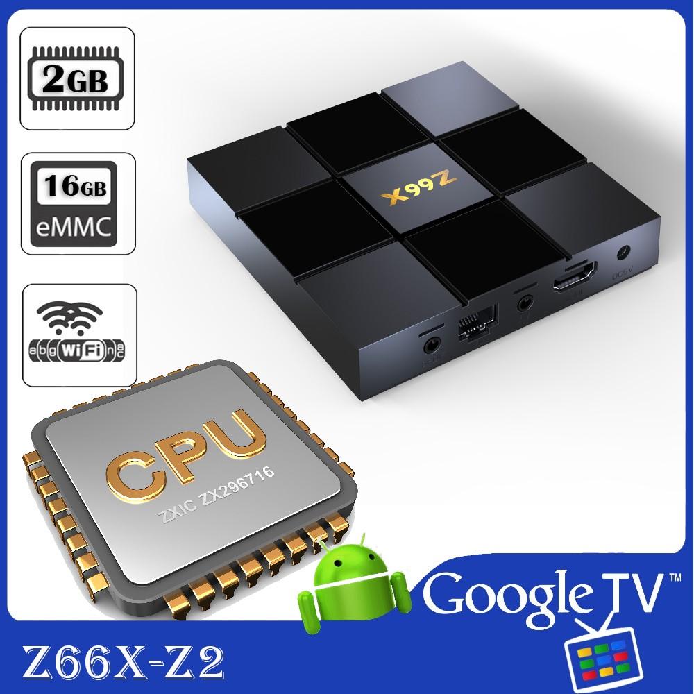Android Tivi Box Z66X-Z2 phiên bản 2GB Ram và 16GB bộ nhớ trong. Sử dụng CPU ZTE ZXIC ZX296716 hiệu