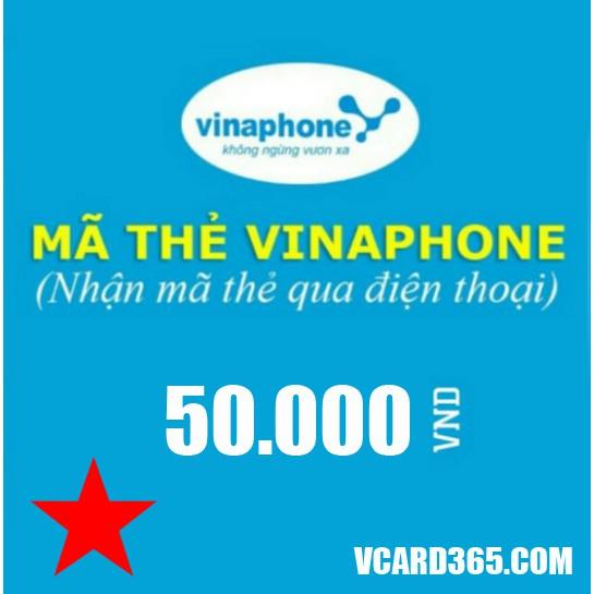Thẻ Vina 50k (Mã thẻ cào Vina 50000, Thẻ vina 50)