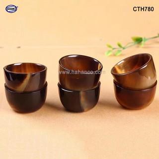Chén sừng Trâu, uống Trà, Rượu thanh lọc giải độc và nhiệt - CTH780 - HA thumbnail