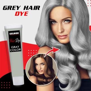 Grey Hair Color Dye Cream, Non-Toxic DIY Silver Hair Dye, Natural Popular Hair Coloring Cream