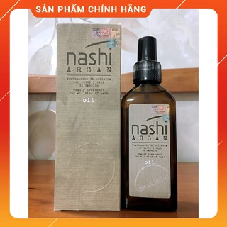 [ HOT SALES ] Nashi-Italia Tinh dầu dưỡng tóc Nashi Argan Oil phục hồi tóc hư tổn 100ml - S001