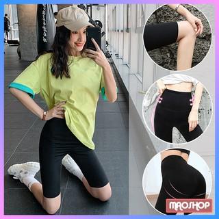 Quần legging lửng nữ Maoshop cạp cao, quần đùi legging nâng mông dáng ngố tập gym thể thao co giãn 4 chiều thumbnail