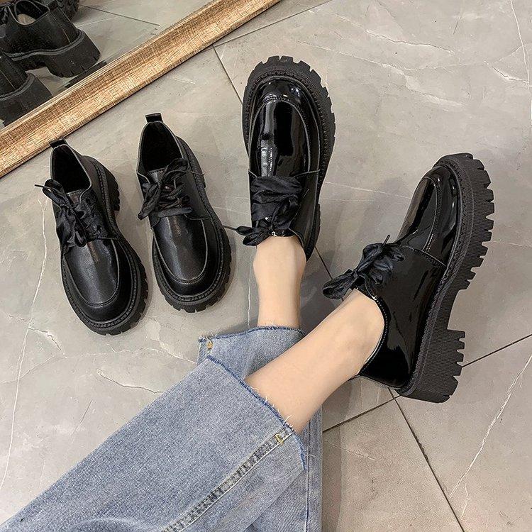 Giày Nữ Vải Da Cột Dây Xinh Xắn