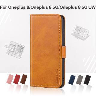 Bao da nam châm hình chiếc ví có ngăn đựng thẻ sang trọng cho Oneplus 8