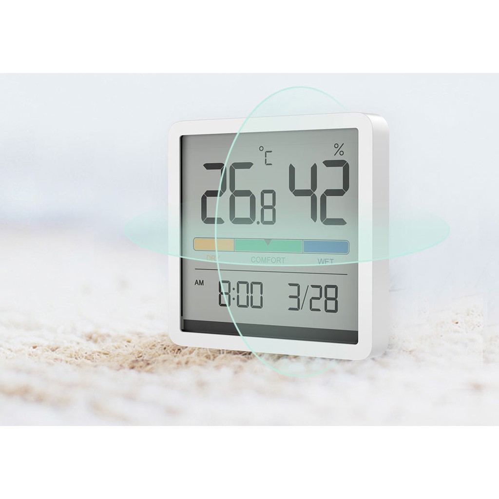 Đồng hồ nhiệt độ và độ ẩm Xiaomi  Miiiw Mute Màn hình LCD lớn 3,34 inch độ chính xác cao