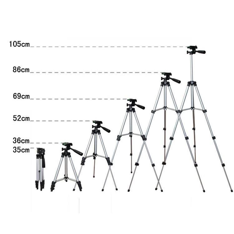 [Kèm Kẹp ĐT] Gậy 3 Chân Tripod 3110 105 cm Chuyên Chụp Hình LiveStream