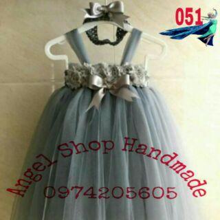 [Bán vì ĐAM MÊ] Váy công chúa hoa hồng dây cho bé gái nhỏ