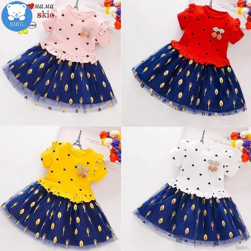 Đầm xòe công chúa phong cách Hàn Quốc đáng yêu dành cho bé gái