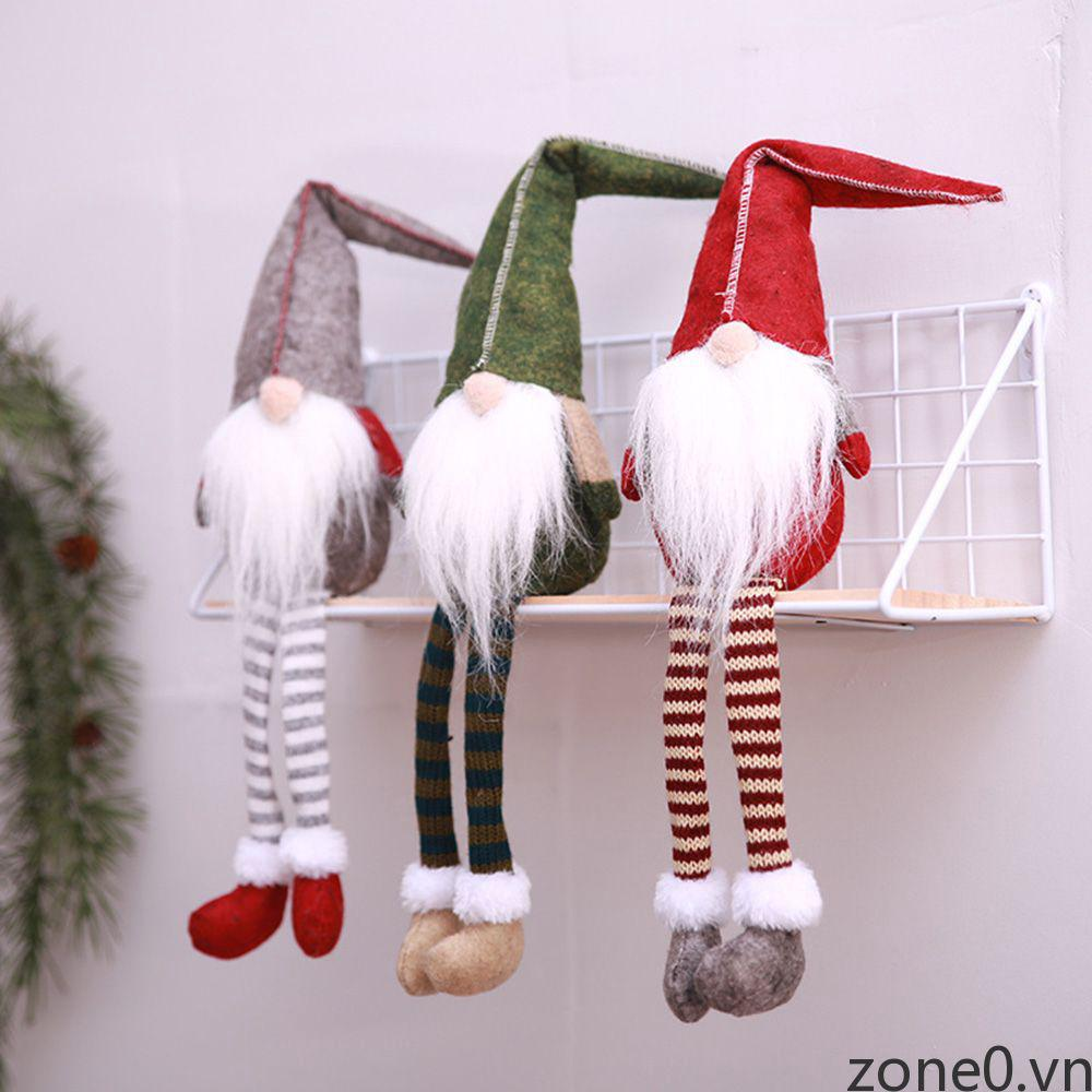 Christmas Decoration Faceless Doll Long Mustache Small Home Xmas Desk Ornament ZONE