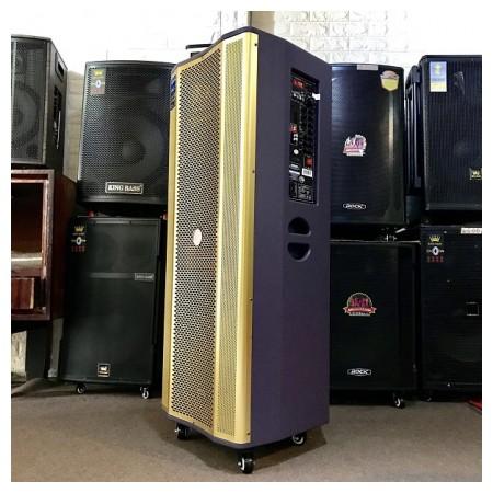 Loa karaoke di động Hoxen L-288, Loa kéo thùng gỗ 4 tấc đôi hát karaoke ngoài trời công suất lớn...