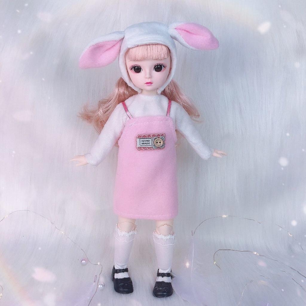 Winter New30CMbjdBarbie Doll3DReal Eye Doll Play House Girl Toy Birthday Gift