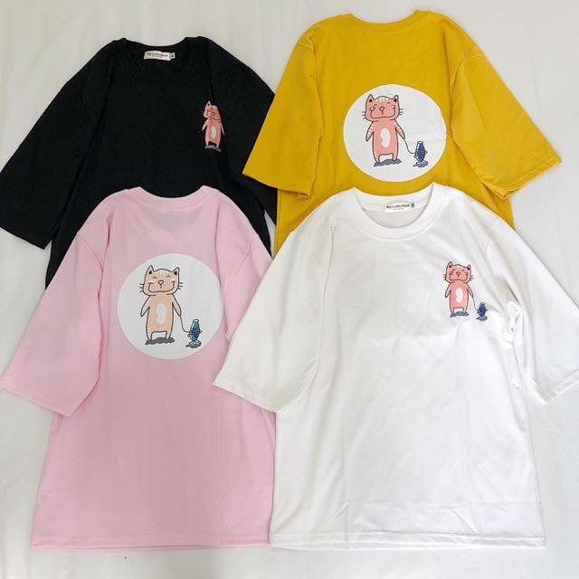 Áo thun mèo in 2 mặt siêu xinh - 14066053 , 2033252979 , 322_2033252979 , 100000 , Ao-thun-meo-in-2-mat-sieu-xinh-322_2033252979 , shopee.vn , Áo thun mèo in 2 mặt siêu xinh