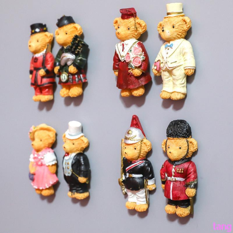 Couple Teddy Bear Fridge Sticker Festive Wedding Gifts Chinese Style Western Kor
