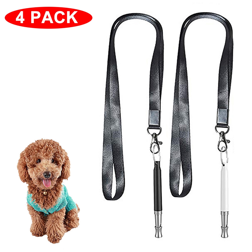 Adjustable Frequencies For Trainers Outdoor Pet Supplies Pitch Sound Whistle +Lanyard+Clicker Dog Training Set