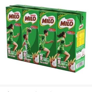 Thức Uống Lúa Mạch Milo 180ml Lốc (4 Hộp) Có Đường / Ít Đường