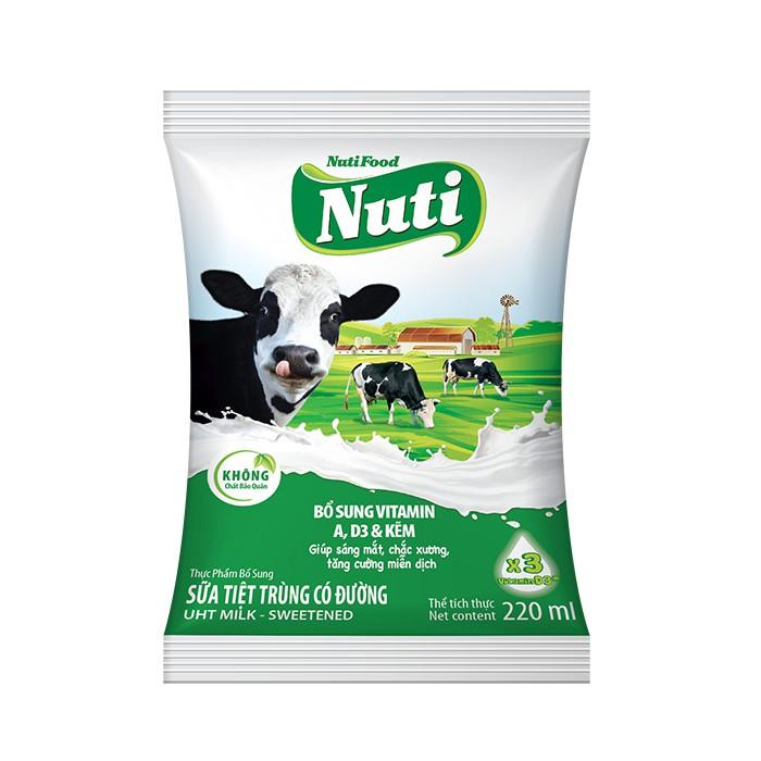 Sữa tiệt trùng Nutifood 220ml