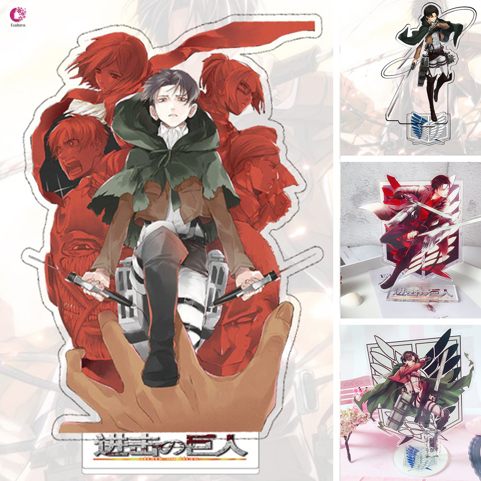 Attack on Titan Levi Ackerman Double-sided Acrylic Stand Figure Character Decoration Standing Cartoon Home Collection