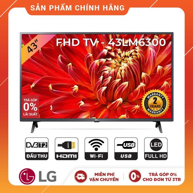 Smart Tivi LG 43 inch Full HD 43LM6300PTB - Model 2019 (Chính Hãng)