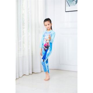 Đồ bơi bé gái công chúa Elsa liền thân dài tay