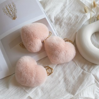 ❖⊕▩Nine pieces of Rex Rabbit Mao Shu soft texture really wuzhi heart love bag pendant car key buckle