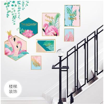 [FREE_SHIP] Decal dán tường Khung ảnh chim hạc - Tranh dán tường khung ảnh chim hạc (DECAL DÁN TƯỜNG HÀN QUỐC)