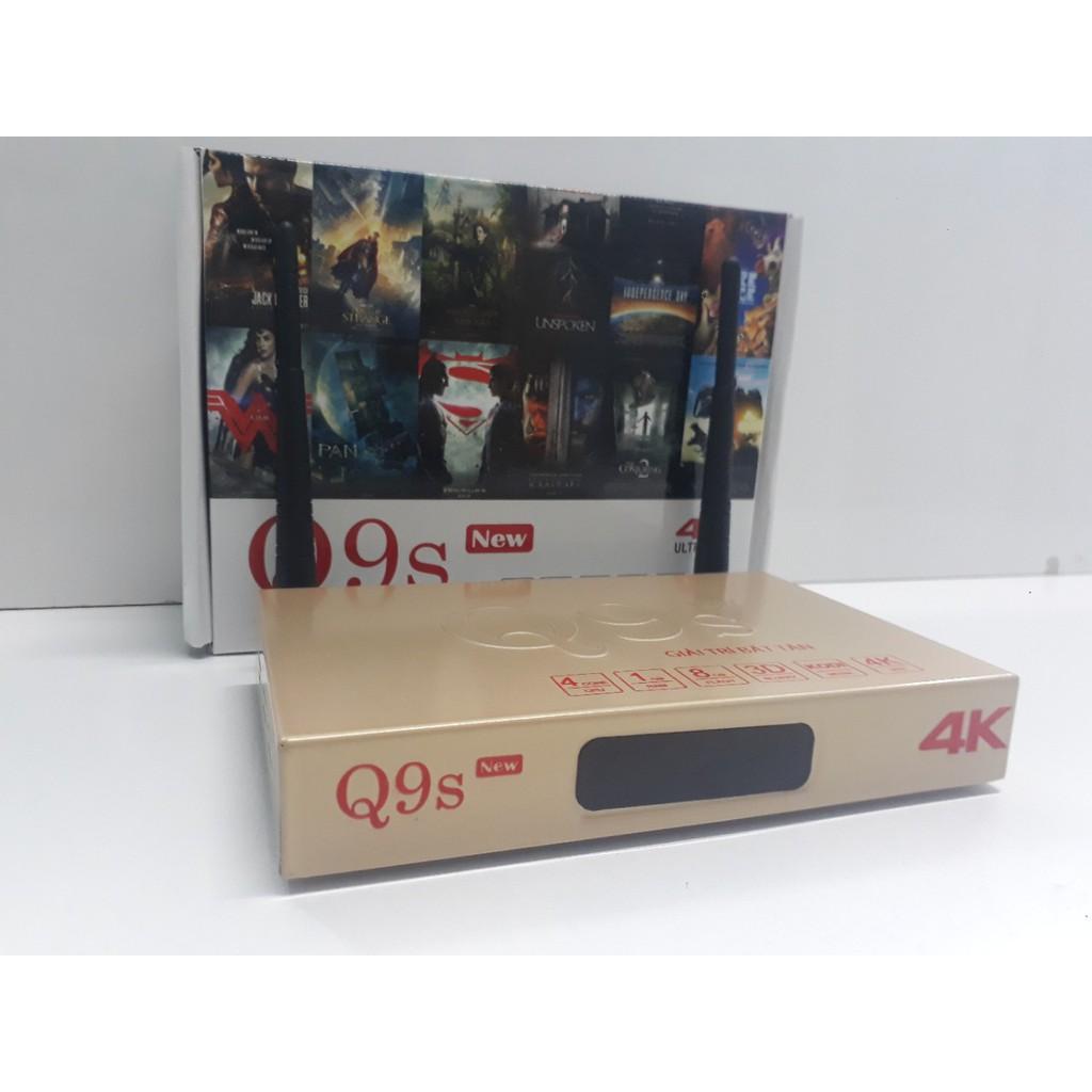 ( Shopee trợ giá ) Androi Tivi Box Q9S New - tặng code VIP