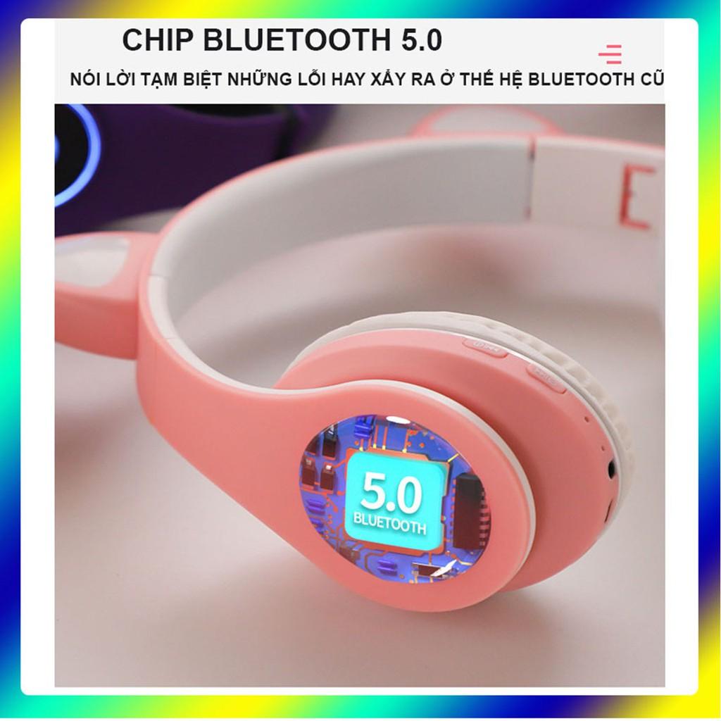 tai nghe bluetoth con mèo ecoking,{MUA 1 TẶNG 1 QUÀ}kết nối bluetooth 5.0,chip jery,bán kính đường truyền 20m,có đèn LED
