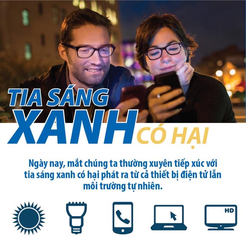 Tròng kính cận,loạn chống ánh sáng xanh,uv420 có hại cho mắt từ máy tính, điện thoại,tivi,mặt trời../ kính mắt elily