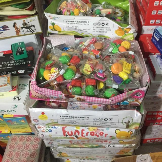 SỈ 30 túi gôm tẩy chì hình đồ ăn, tẩy bút chì hình đồ chơi