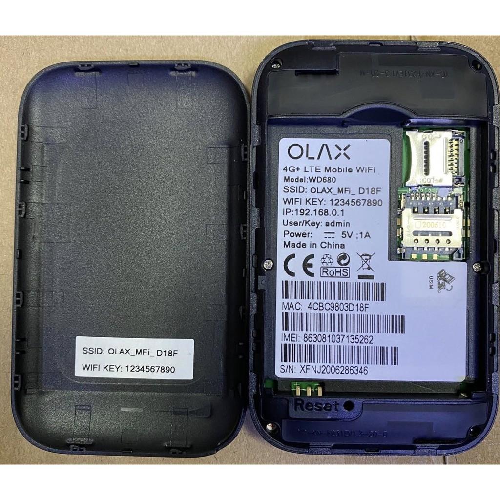 Bộ phát wifi 4G Olax Wd680 dùng cho Đa Mạng Mobile - Hàng xuất Châu Âu- dùng cho 10 người cũng lúc-Tốc Độ 150MP
