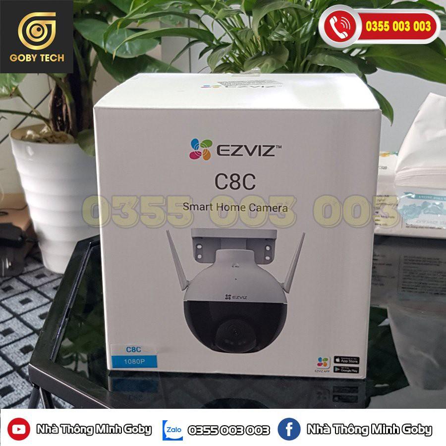 [Hàng Mới + Video] Camera Wifi Ngoài Trời EZVIZ C8C 1080P  Xoay 360 Có Màu Ban Đêm