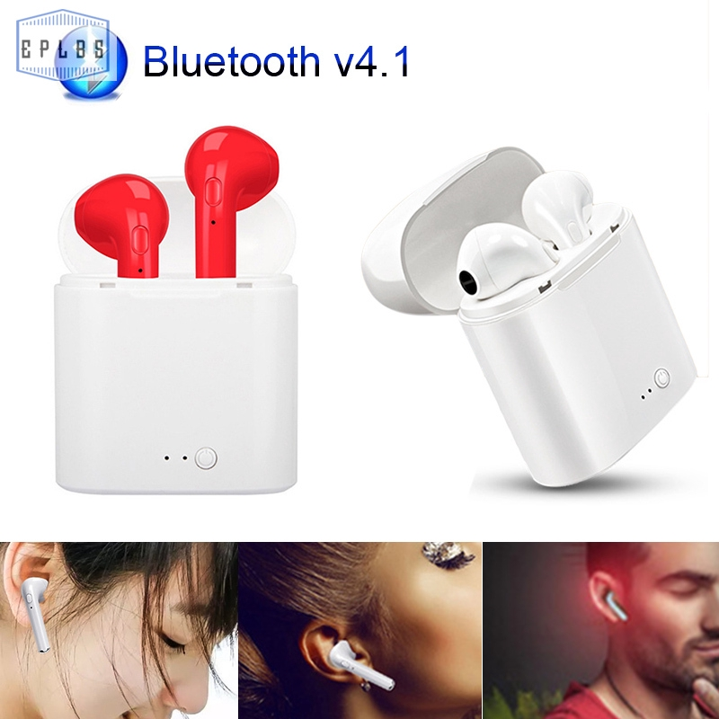 EPLBS 1 Pair Bluetooth Wireless Mini Headset In-ear Stereo Ear Buds Headset Earphone with Charging Base