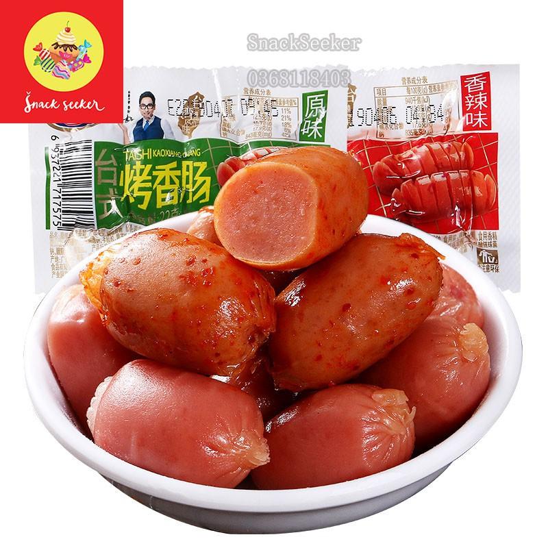 Xúc xích Đài Loan siêu ngon_ Xúc xích viên đạn _SNACK SEEKER_Đồ Ăn Vặt Trung Quốc