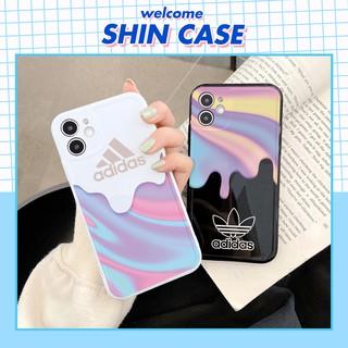 Ốp lưng iphone Adi Cream bóng cạnh vuông 5 5s 6 6plus 6s 6splus 7 7plus 8 8plus x xr xs 11 12 pro max plus promax thumbnail