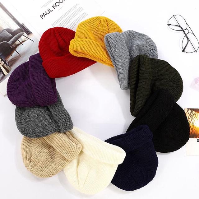Mũ len beanie trơn nhiều màu unisex | SaleOff247