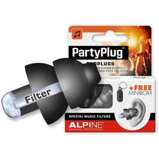 Hộp 1 đôi nút bịt tai chống ồn Alpine dùng cho âm nhạc Party Plug ( Màu Đen ) – Nhập khẩu Hà Lan
