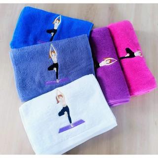 Khăn cotton thể thao lau thấm mồ hôi thêu hình cô gái tập yoga thumbnail
