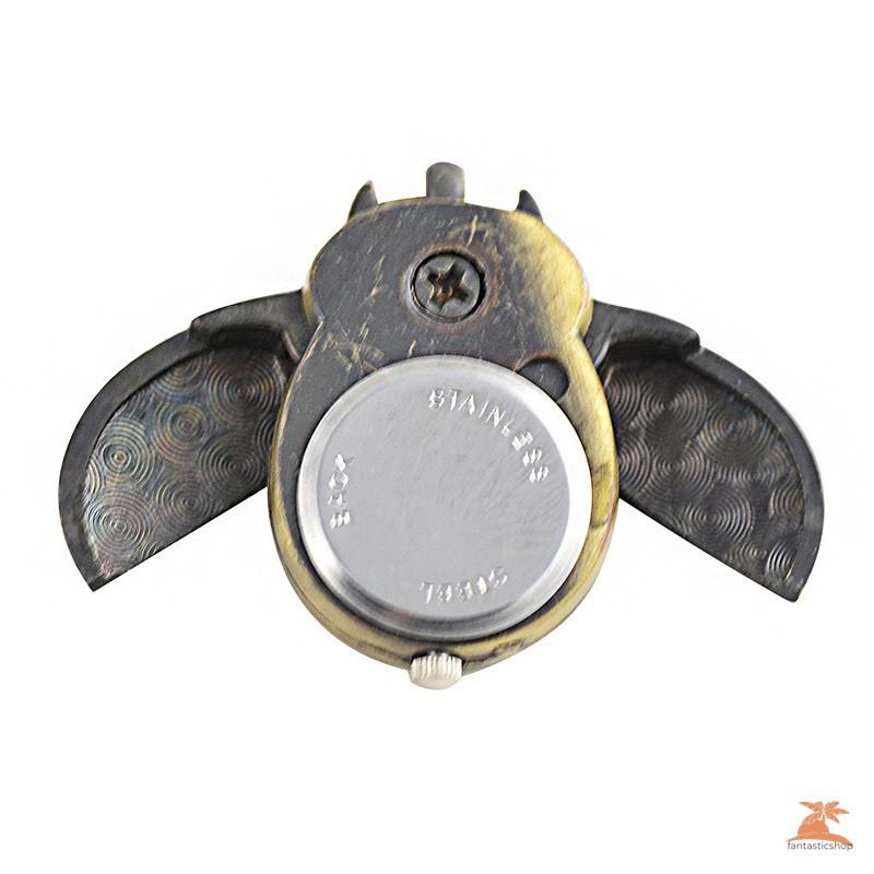 #Đồng hồ bỏ túi# 2017 Fashion Unisex Vintage Pocket Watch Slide Smart Owl Pendant Chain Necklace Quartz Watches
