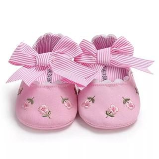 Giày tập đi thêu hoa có đính nơ công chúa cho bé gái BBShine TD14 thumbnail