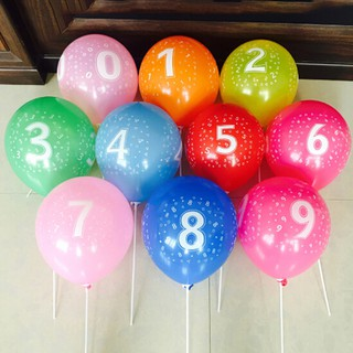 YZVN 10pcs Latex Number Balloon Birthday Inflatable Balls Aniversary Party Decor